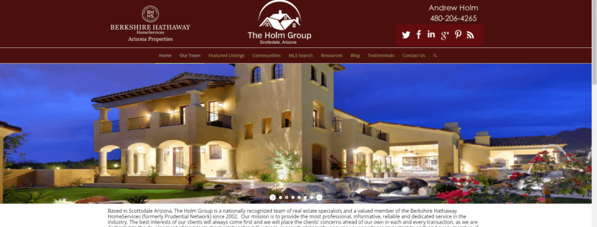 The Holm Group Website