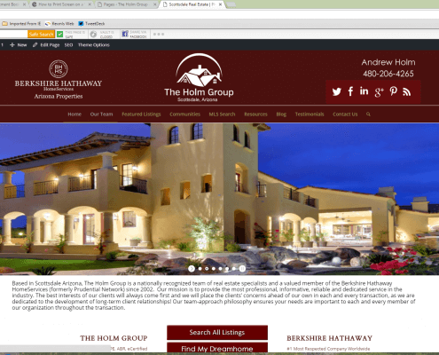 The Holm Group AZ New Website