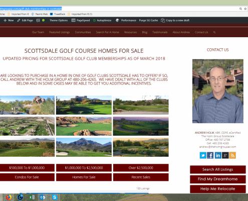 Scottsdale Golf Club Memberships Updated Page 2018