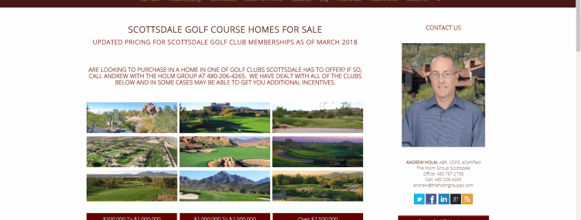 Scottsdale Golf Club Memberships Updated Page 2018